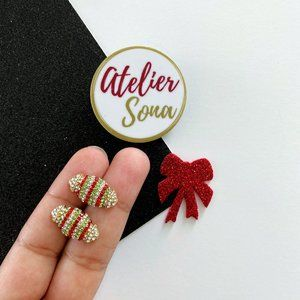 Christmas Candy Stud Earrings